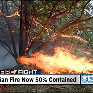 Containment Of Sand Fire Shoots Up