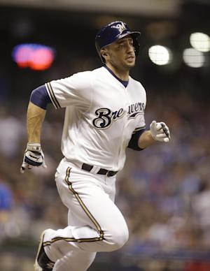 Brewers put Ryan Braun on DL with oblique strain