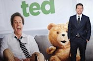 Actor Mark Wahlberg arrives for the movie premiere of &quot;TED&quot; presented by Universal Pictures and MRC at Grauman&#39;s Chinese theatre in June 2012 in Hollywood, California. &quot;Ted,&quot; a comedy starring Mark Wahlberg and his raunchy teddy bear pal, topped the North American box office this weekend, besting the male strippers of &quot;Magic Mike,&quot; industry estimates showed Sunday