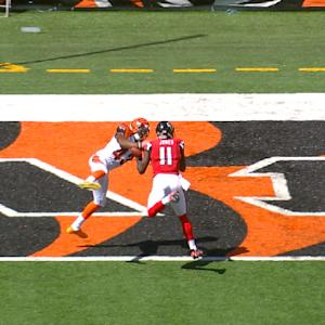 Cincinnati Bengals safety George Iloka prevents touchdown