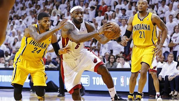 Basketball - James saves Miami in opening NBA Eastern Finals win over Indiana