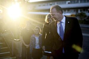 San Diego Republican mayoral candidate Kevin Faulconer walks to a polling station to vote on election day in San Diego