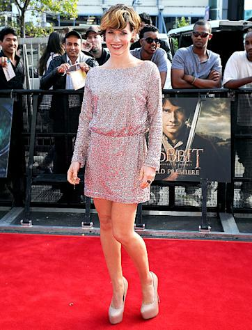 PICTURE: Wow! Evangeline Lilly Premieres Major Hair Makeover on Red Carpet for The Hobbit
