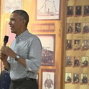 President spends holiday with military families