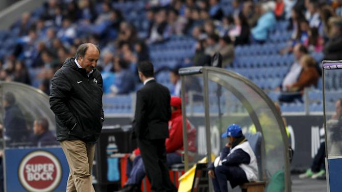 Academica's coach Jose Viterbo reacts during their Portuguese Premier League soccer match against Porto held at Dragao stadium in Porto