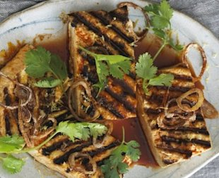 Watch your tofu soak up this marinade, which caramelizes nicely over a hot grill.