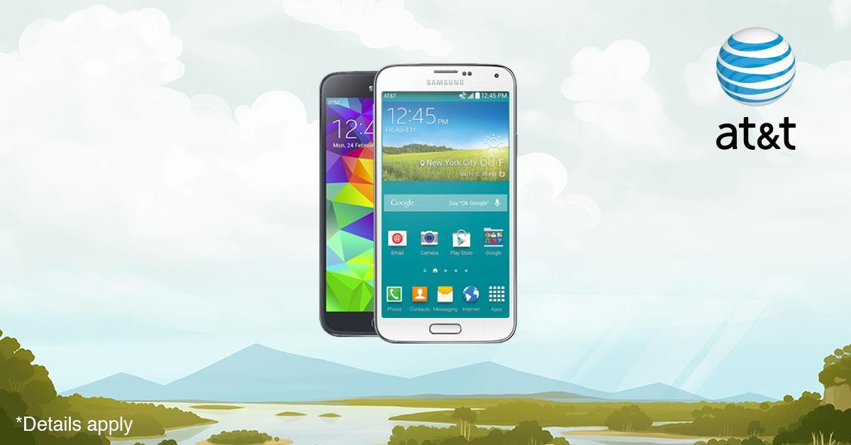 Free Samsung Galaxy S5 from AT&T.