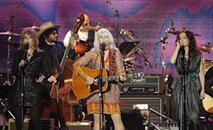 Williams, Harris and Griffin perform at the 2010 MusiCares Person of the Year tribute honoring recording artist Neil Young in Los Angeles