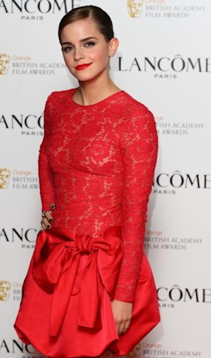 Emma Watson attends a special pre-Orange British Academy Film Awards party in London on February 10, 2012  -- Getty Premium