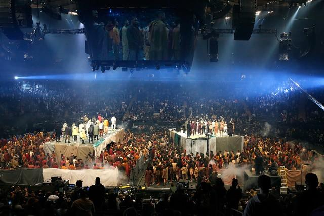 An Extra in Kanye West's Fashion Show Claims the Rapper Didn't Pay Them