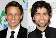 Seth Meyers, Adrian Grenier | Photo Credits: Ilya S. Savenok/Getty Images, Allen Berezovsky/Getty Images