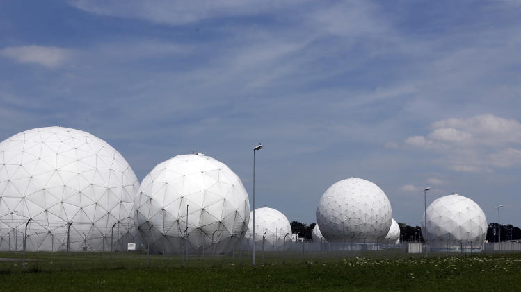 "FILE - The July 8, 2013 file photo shows the former monitoring base of the U.S. intelligence organization National Security Agency (NSA) in Bad Aibling, near Munich, southern Germany, that was closed in 2004. The German government has canceled a Cold War-era surveillance pact with the United States and Britain following concerns about their alleged electronic eavesdropping in Germany. Foreign Minister Guido Westerwelle said Friday, Aug, 2, 2013 that ending the agreement was ""a necessary and proper consequence of the recent debate about protecting personal privacy."" A government official says the move is largely symbolic and has no practical consequences for intelligence cooperation. (AP Photo/Matthias Schrader)"