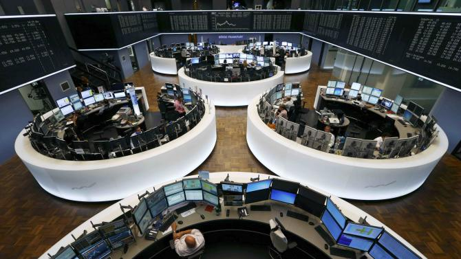 Genral view of trading floor of Frankfurt stock exchange in Frankfurt