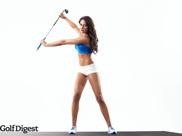 Holly Sonders will be the cover girl for next month's Golf Digest