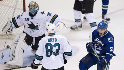 Horvat nets winner as Canucks top Sharks 4-2