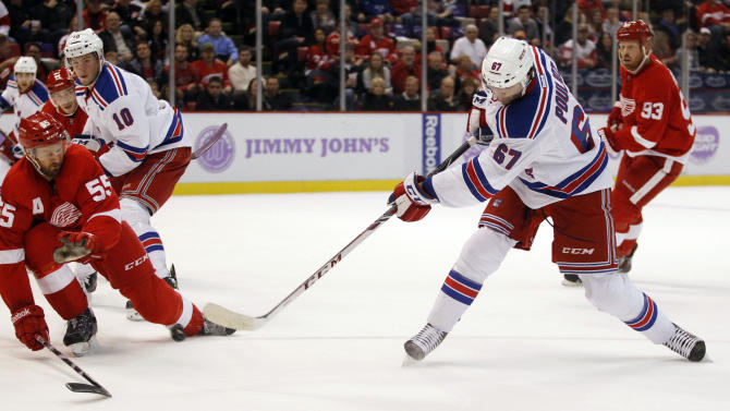 Brassard's OT goal gives Rangers win over Detroit