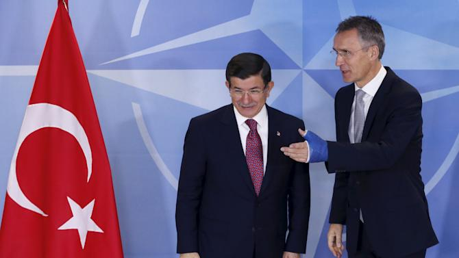 NATO Secretary-General Stoltenberg welcomes Turkish PM Davutoglu in Brussels
