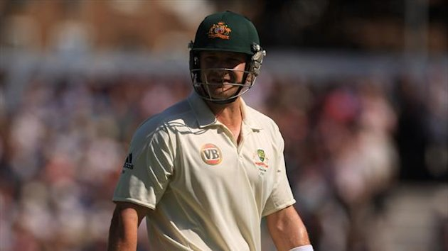 Shane Watson fell just before lunch for Australia