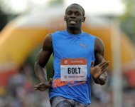 Jamaican sprinter Usain Bolt crosses the finish line to win the men's 100m race at the Golden Spike athletics event in Ostrava on May 25. Bolt will be the main draw at the Diamond League meeting at the Stadio Olimpico on Thursday