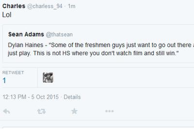 Texas Longhorns players now publicly calling each other out on Twitter