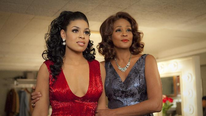 "FILE - In this undated file image provided by Sony Pictures Entertainment, singer-actresses Jordin Sparks, left, and Whitney Houston are shown in a scene from the upcoming film ""Sparkle."" Viewers got a first glimpse of Houston's upcoming film Monday, April 2, 2012, when NBC's ""Today"" show premiered a trailer for the much-awaited release. (AP Photo/Sony Pictures, Alicia Gbur, File)"