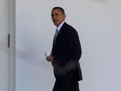 As Capital Cleans Up, Obama Buckles Down to Work