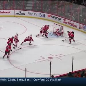 Jimmy Howard Save on David Legwand (15:11/1st)