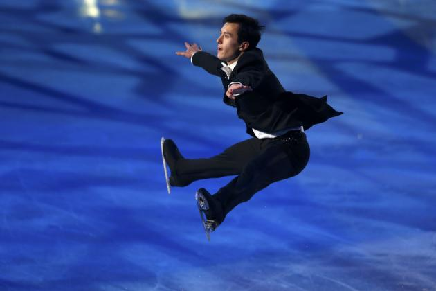Patrick Chan of Canada performs at the gala exhibition during ISU Bompard Trophy event at Bercy in Paris