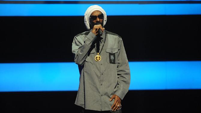 Special Guest Snoop Lion takes the stage at the 2013 MTV Upfront, on Thursday, April 25, 2013 at the Beacon Theater in New York. (Photo by Brad Barket/Invision/AP Images)
