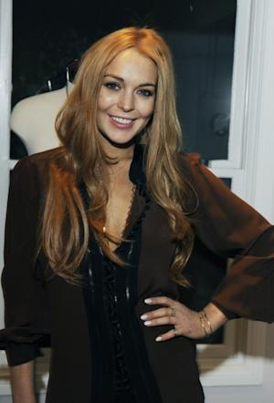 Lindsay Lohan attends the Eva Fehren Jewelry Show at Roseark in West Hollywood, Calif. on April 4, 2012 -- Getty Premium