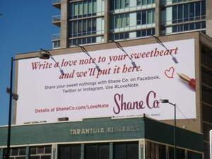 Shane Co. Invites People of Denver to Publicly Declare Their Love on Billboard