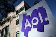 The AOL logo is seen in front of the AOL Inc. offices in Palo Alto, California, in 2011. Facebook struck a $550 million deal to get its hands on hundreds of AOL patents from Microsoft as the social network hardened its defenses before it goes public on the Nasdaq