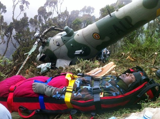 Eight Ugandans Survive Army Helicopter Crash, Two Dead