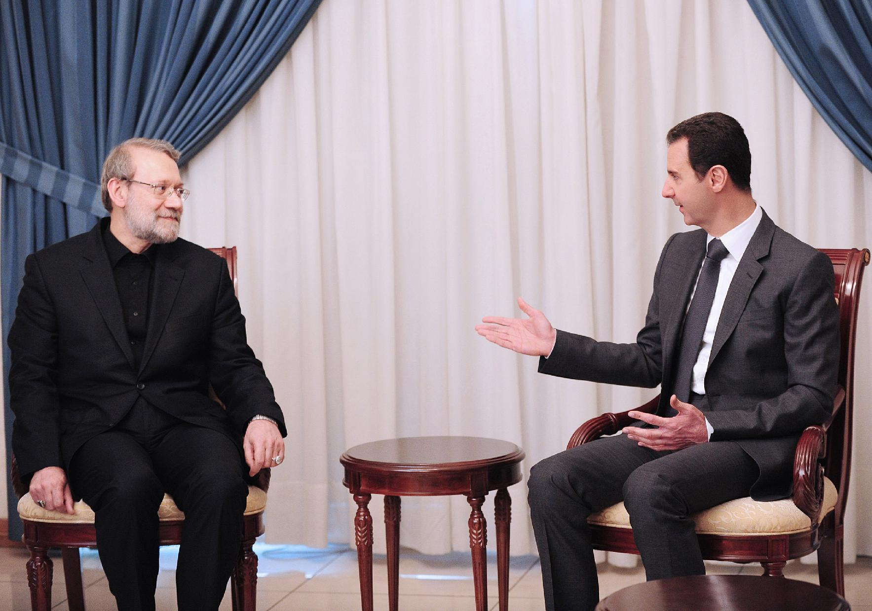 Assad tells Iran's Larijani he backs local truces