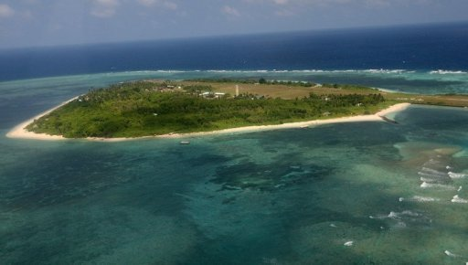 An aerial photo shows Thitu Island, part of the disputed Spratly group of islands, in the South China Sea in 2011. A group of Taiwanese academics has visited the contested Spratly Islands in the South China Sea, defence officials said on Monday, amid continued tensions over rival claims to the area
