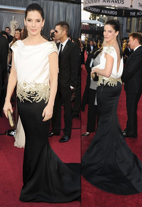 2012 Oscar Arrivals Sandra Bullock