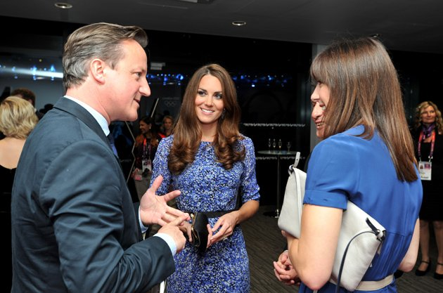 Kate Middleton and David Cameron