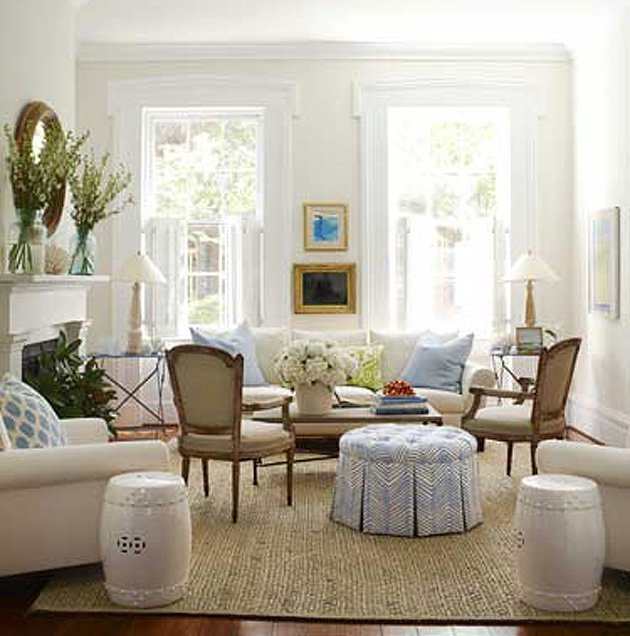 Clean, white living rooms - Yahoo Homes