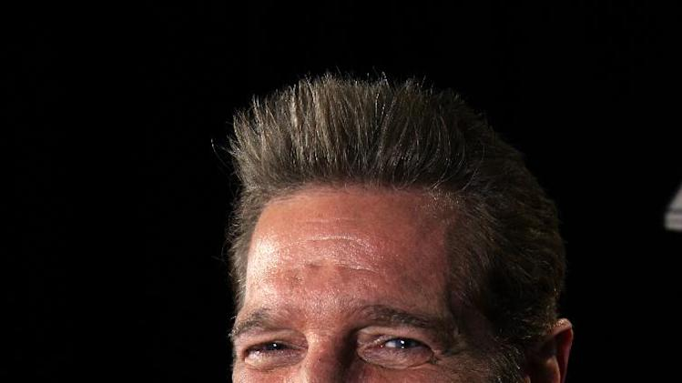 "In this May 7, 2012 photo, musician Glenn Frey is shown in New York.  On his latest solo record ""After Hours,"" Frey covers artist like Tony Bennett, Nat King Cole, and the Beach Boys. (AP Photo/John Carucci)"
