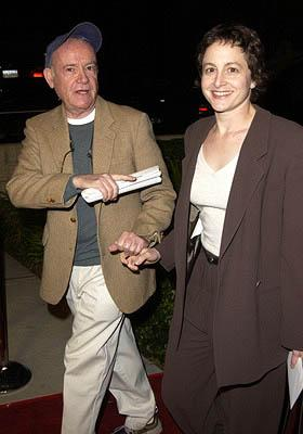 Buck Henry and gal at the Beverly Hills premiere of Columbia's Black Hawk Down