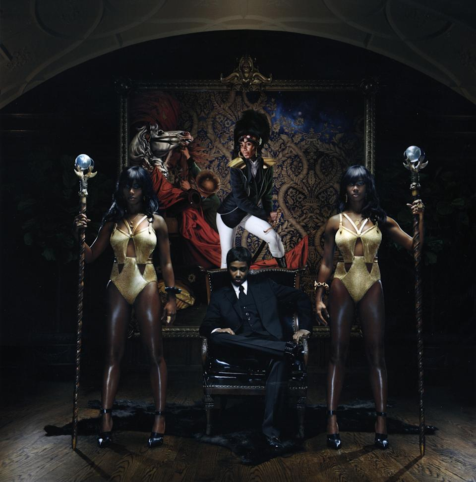"In this CD cover image released by Atlantic Records, the latest release by Santigold, ""Master of my Make-Believe,"" is shown. (AP Photo/Atlantic Records)"