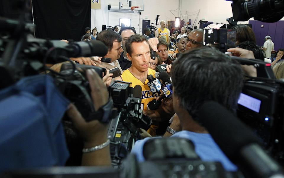 Lakers' Steve Nash angling for bounce-back season