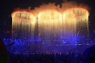 Olympic rings are assembled during the opening ceremony of the London 2012 Olympic Games, on July 27. A stirring ceremony packed with surprises, music and comedy opened the Games as Britain welcomed the world with a blaze of colour and creativity
