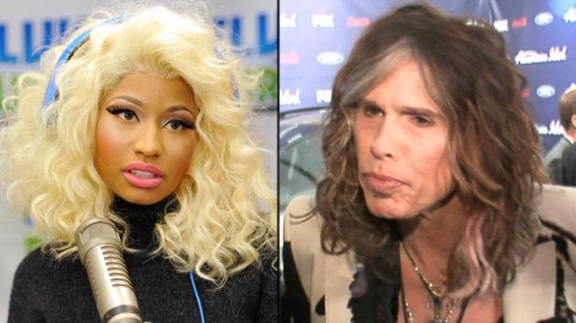 Nicki Minaj, Steven Tyler -- Getty Images