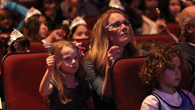 """Guests attend The Hub TV Network's """"My Little Pony Friendship is Magic"""" Coronation Concert at the Brentwood Theatre on Saturday, Feb. 9, 2013, in Los Angeles in support of Children's Hospital LA. (Photo by Matt Sayles/Invision for The Hub/AP Images)"""