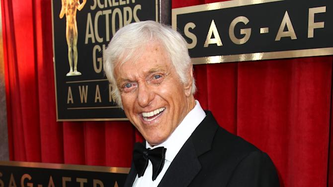 """FILE - This Jan. 27, 2013 file photo shows actor Dick Van Dyke at the 19th Annual Screen Actors Guild Awards at the Shrine Auditorium in Los Angeles. Van Dyke is undergoing tests for """"cranial throbbing"""" that's causing him to lose sleep. Spokesman Bob Palmer said Thursday the 87-year-old Van Dyke has been experiencing a throbbing sensation in his head when lying down. Scans and other tests have yet to yield a diagnosis, Palmer said. (Photo by Matt Sayles/Invision/AP, file)"""