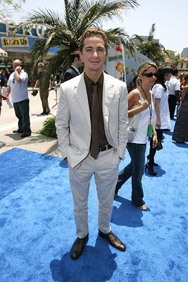 Shia LaBeouf at the premiere of Columbia Pictures' Surf's Up