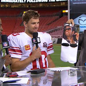 New York Giants quarterback Eli Manning: This offense is starting to click