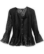 Coldwater Creek lace top, $54.99.