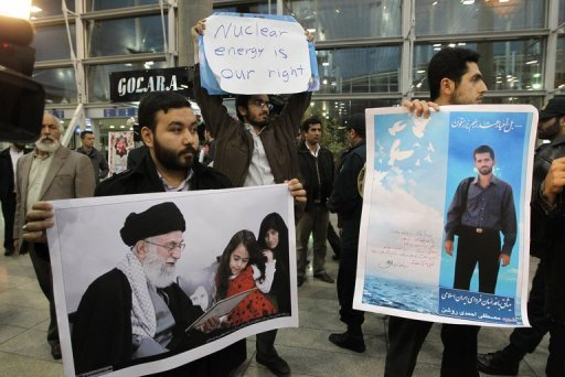 &lt;p&gt;Iranian students hold up posters of assassinated nuclear scientists at the airport in Tehran in January 2012 during the arrival of the International Atomic Energy Agency (IAEA) inspectors. Iran&#39;s intelligence service recently said it had broken a ring of &quot;spies&quot; linked to the scientists&#39; slayings.&lt;/p&gt;